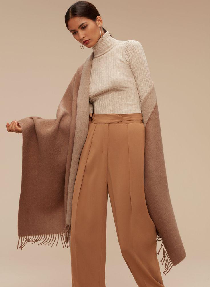 how to wear a blanket scarf aritzia
