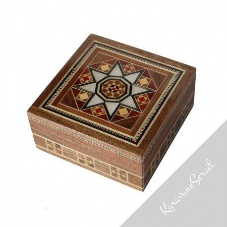 Boîte Isdès par KaravaneSerail #marqueterie #artisanat # artisanatdart #boiteabijoux