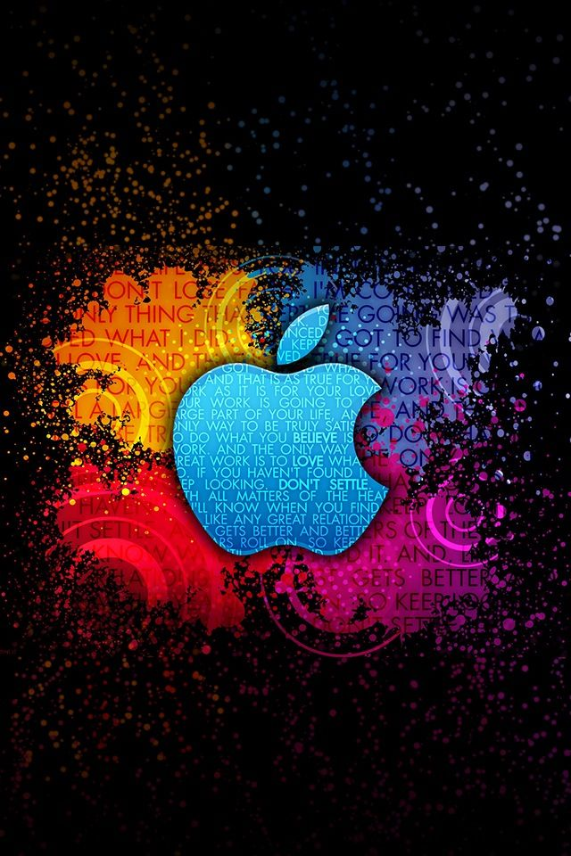 Apple Logo - Colorful Words
