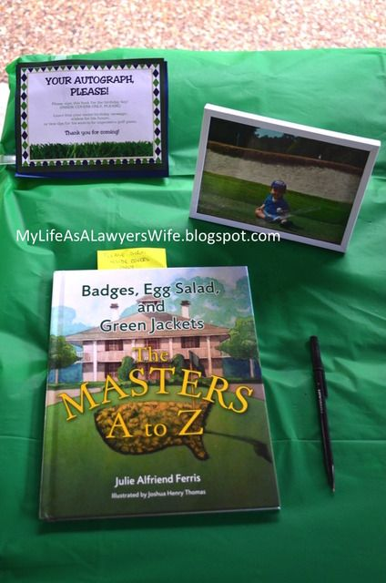 My Life as a Lawyer's Wife: E.J. is a Hole in ONE!: Golf-Themed First Birthday Party - guestbook