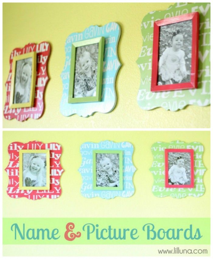 I like the layered look of the frames, adds lots of color...playroom decor maybe?