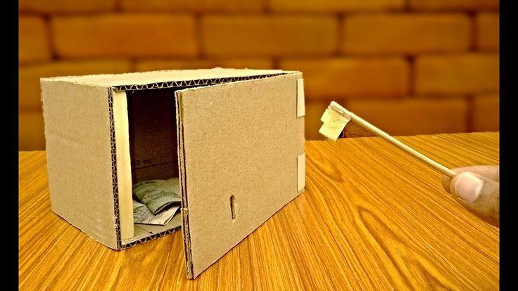 How to make a safe key Locker with cardboard -safe box - TRICKNEW - YouTube