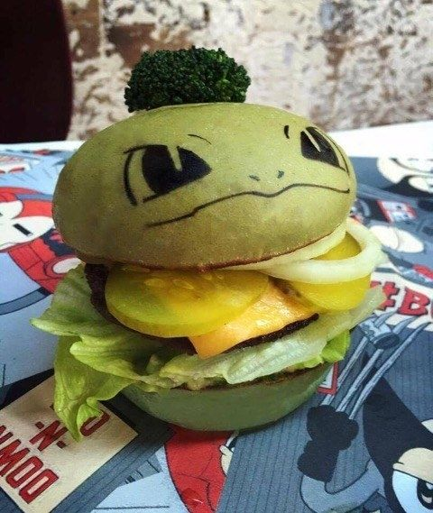 """Each burger will be served with a """"Pokéburg"""" card, which lists exactly what's…"""
