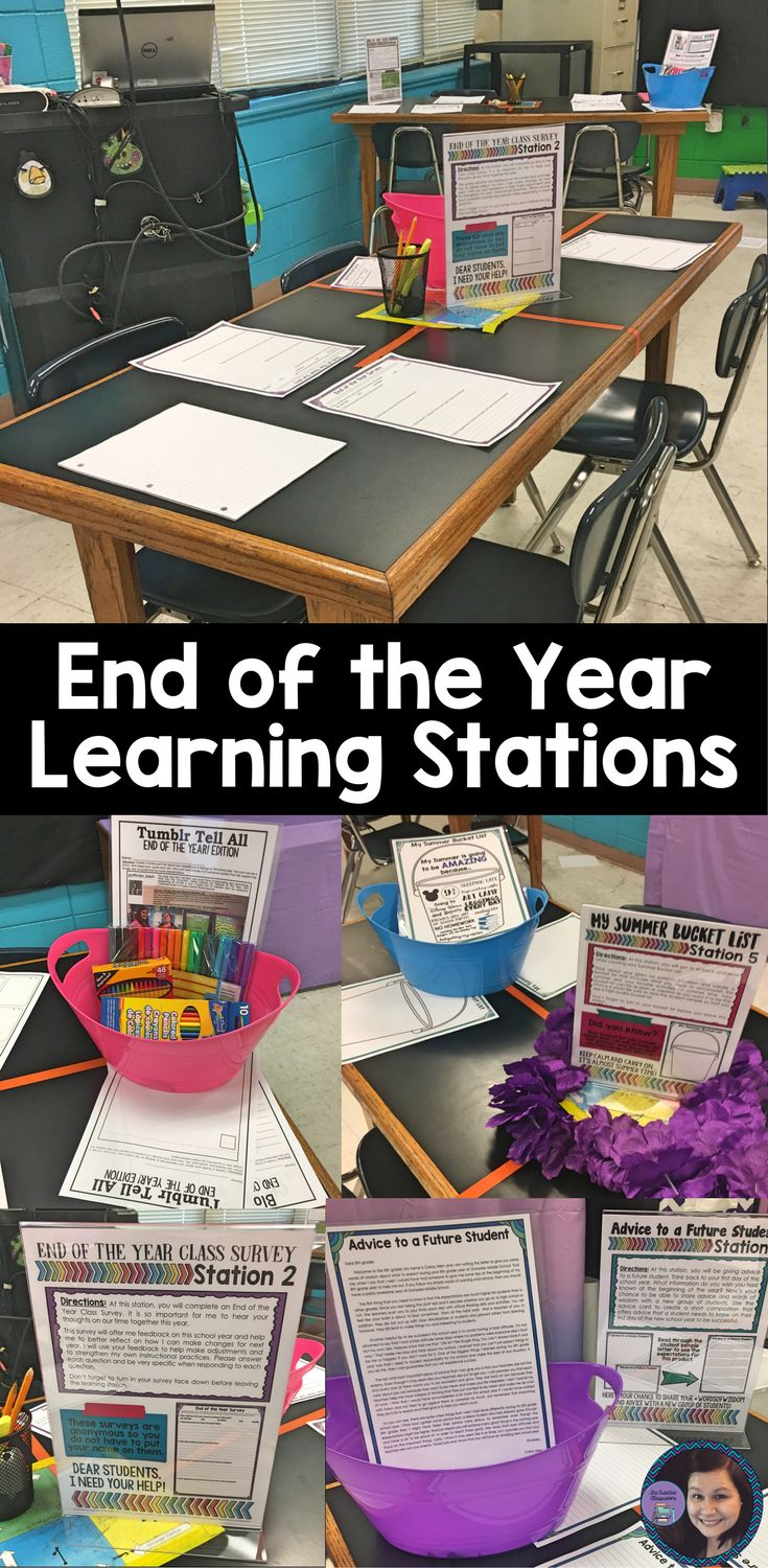 End of the Year Learning Stations and Activities for Middle School Students