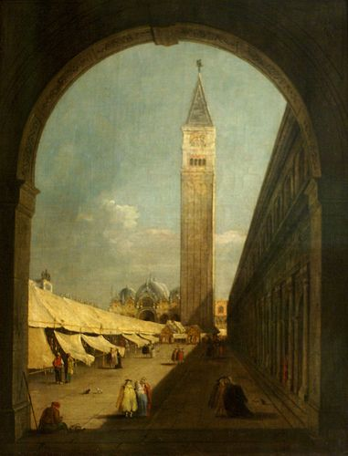Giacomo Guardi, Der Markusplatz in Venedig mit dem Campanile (St. Mark's Place at Venice with the Campanile) GIACOMO GUARDI' (1764 – 1835) #TuscanyAgriturismoGiratola