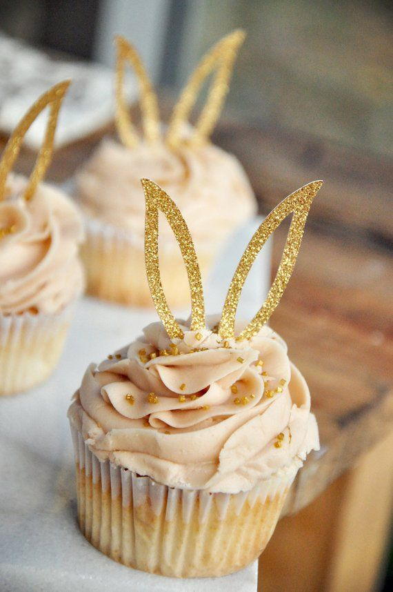 Some Bunny is One First Birthday Party Decoration Easter Bunny Rabbit Theme Cupcake Toppers Food Picks