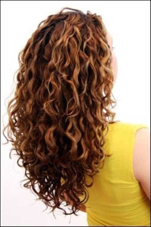Long, layered curly hair