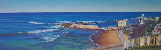 SOLD - Cowrie Hole, Newcastle - Soft pastel on sanded paper by Carole Elliott Artist #art #australianart #newcastle #pastel #softpastel #cowriehole
