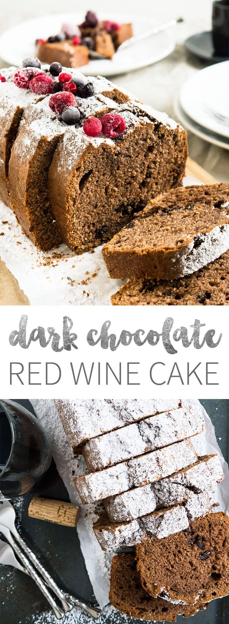 Dark Chocolate Red Wine Cake combines all those delicious red wine flavors with your favorite chocolate!
