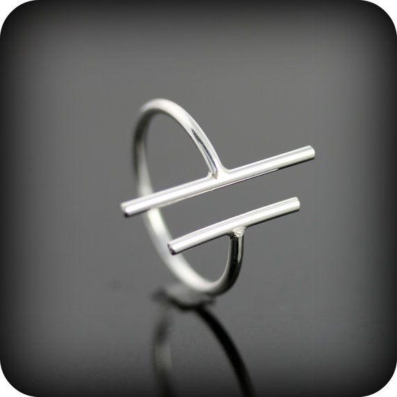 Hey, I found this really awesome Etsy listing at https://www.etsy.com/listing/127254765/two-bars-open-ring-adjustable-sterling