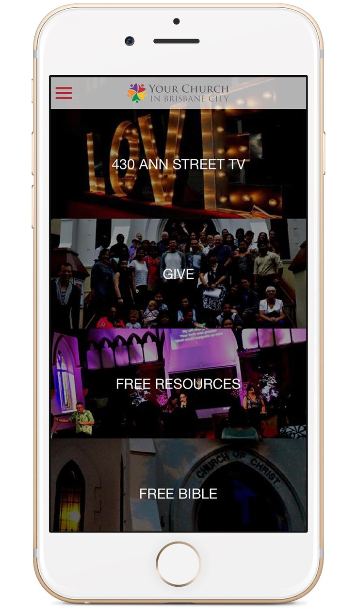 Your Church in Brisbane City's custom church app built by Tithe.ly - #churchapps.  Get a custom church app for you church - $0 setup and $0 for first six months!  http://get.tithe.ly/mobile-church-app/  #mobileapp #churchapp #mobiledesign #appdesign #appsforchurches #churchapps