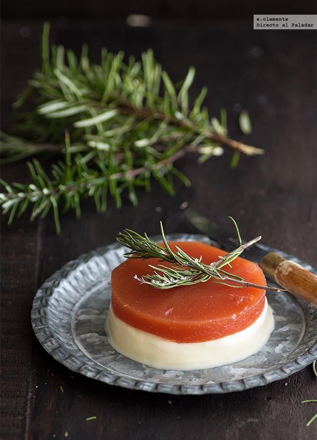 Directo al Paladar - Mousse de queso fresco de cabra con dulce de membrillo. Receta