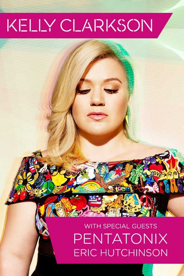 Global superstar Kelly Clarkson's #PieceByPieceTour with special guests Pentatonix and Eric Hutchinson.  The summer tour that cannot be missed!  Tickets on sale starting March 14, 2015 – click here for more info.