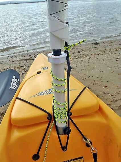 A complete step-by-step guide on how to rig a Hobie kayak for sailing – including rudder upgrade, side-kicks, furling gizmo and much more