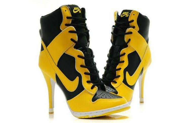 nike dunk high heel shoes