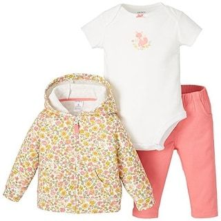 Shop for Carters Baby Girls 3-Piece Floral Fox Hoodie Set 6 Month Pink/yellow/white. Free Shipping on orders over $45 at Overstock.com - Your Online Children's Clothing Outlet Store! Get 5% in rewards with Club O! - 23218179