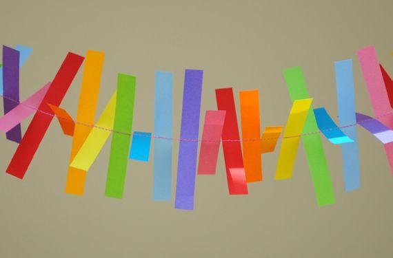 Sewn Paper Garland