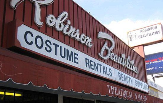 Halloween Costume Shops in Los Angeles: Robinson Beautilities