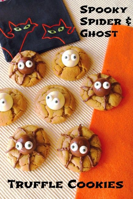 spooky spider ghost truffle cookies 4 ingredients cookies ingredients ...