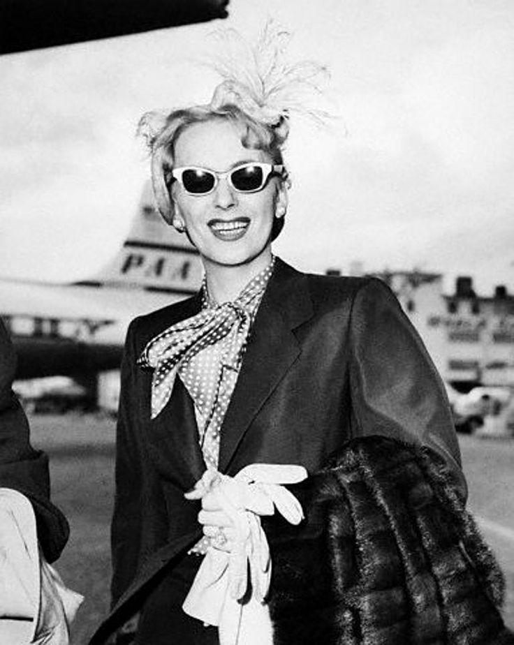 Christine Jorgensen returning from Cuba, 1953.