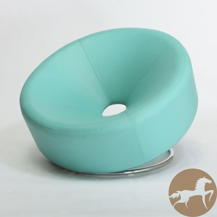Make a bold statement with this modern  round  blue  bonded leather accent  chair from Christopher Knight Home  The unique design of this round accent  chair  288 best Furniture images on Pinterest   Jack o connell  Chairs  . Aqua Leather Accent Chair. Home Design Ideas