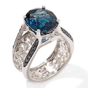 Calling all London blues!London Blue Topaz, Sapphire Rings, Gemstones Sterling, Sterling Silver, Victoria Wieck, Silver Bridges, Dreams Rings, 5 33Ct London, Engagement Rings