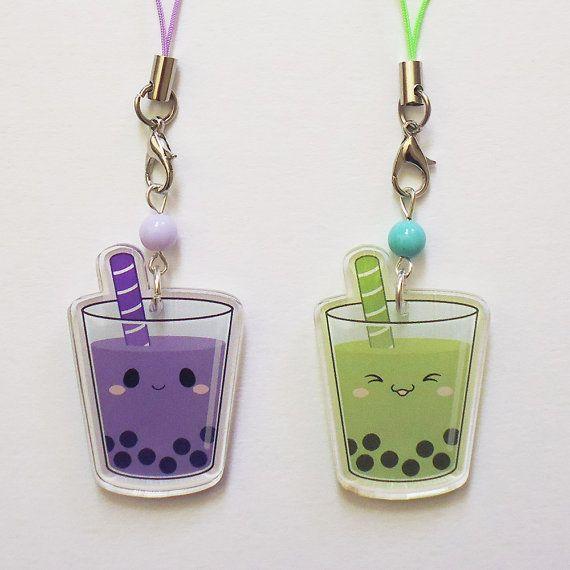 Taro Matcha Cute Kawaii Bubble Boba Milk Tea 1.5 by JennifairyW