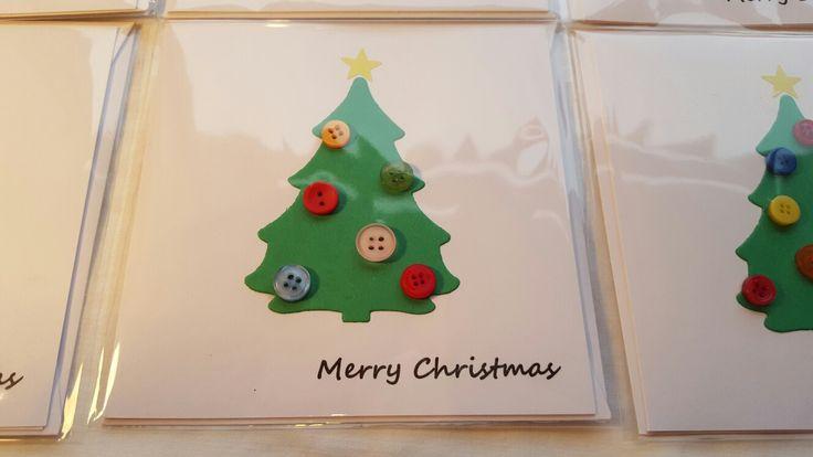 Button Christmas Tree Card