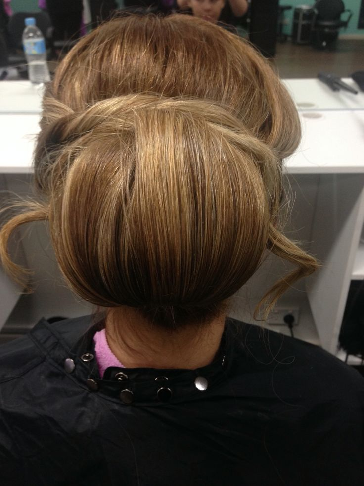 Hair up styling