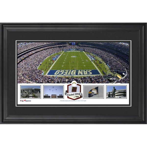 San Diego Chargers Fanatics Authentic Framed Qualcomm Stadium Panoramic Collage with Game-Used Football-Limited Edition of 500 - $99.99