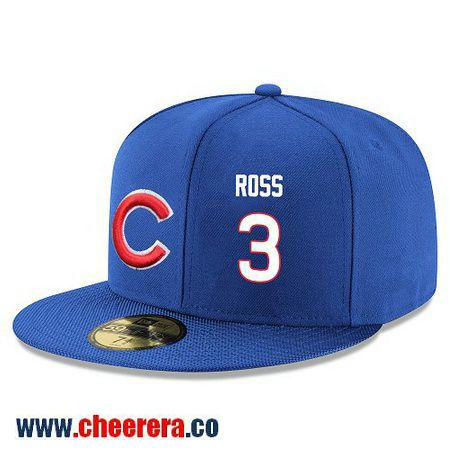 08b6c23da ... Chicago Cubs 3 David Ross Snapback Cap MLB Player Royal Blue with White  Number Hat ...