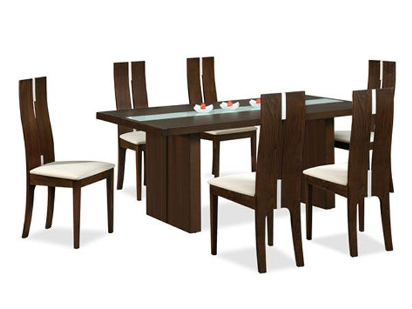 Woodflux 6 Seater Wooden Dining Table U0026 Chairs