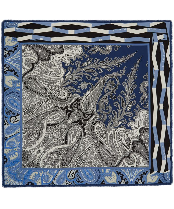 Give your look a signature flourish with Etro's iconic paisley prints silk scarf Liberty.co.uk