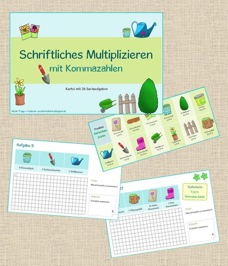 Frau Locke: Schriftliches Multiplizieren mit Kommazahlen - ein...
