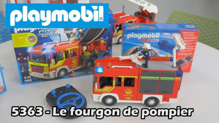 Playmobil 5363 (+6914) : le fourgon de pompier - Démo City action en fra...
