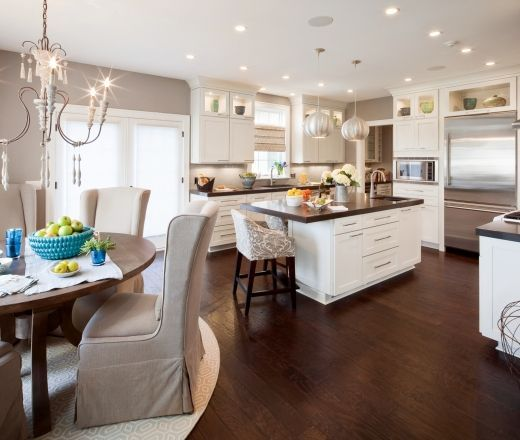 white kitchen cabinets with dark wood floors  Kitchen white cabinets