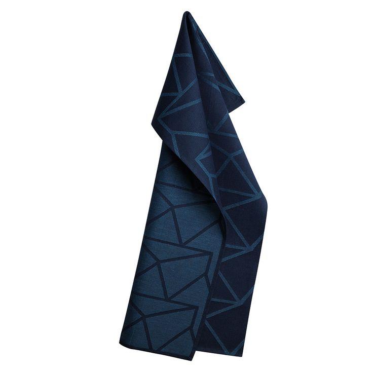 Arne Jacobsen Kjøkkenhåndkle 50x80cm, Mørkeblå - Arne Jacobsen - Georg Jensen Damask - RoyalDesign.no