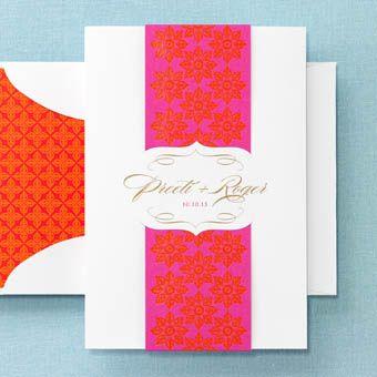 BRIDES Fine Wedding Papers : Festival - Invite : Wedding Invites & Stationery Gallery : Brides