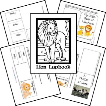 FREE Lion Lapbook and Unit Study