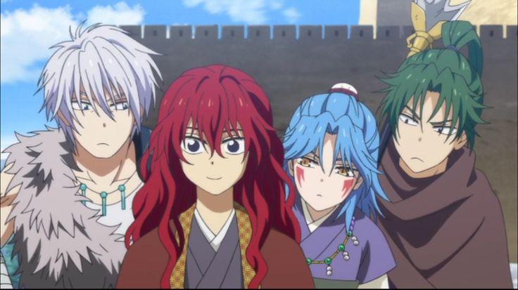 Akatsuki no Yona / Yona of the dawn anime and manga OVA OAD ZENO'S ARC!!! FINALLY YELLOW DRAGON OURYUU T-T original dragons. Shuten, Guten, and Abi. Hakuryuu White dragon Ryokuryuu Green Dragon, Seiryuu blue dragon , Hiryuu red Crimson dragon King