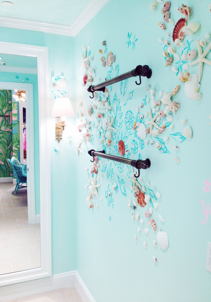 Lilly Pulitzer Shell Grotto Dressing Room In Bethesda, MD   I Would Totally  Do This To The Guest Bathroom When I Own A Home!