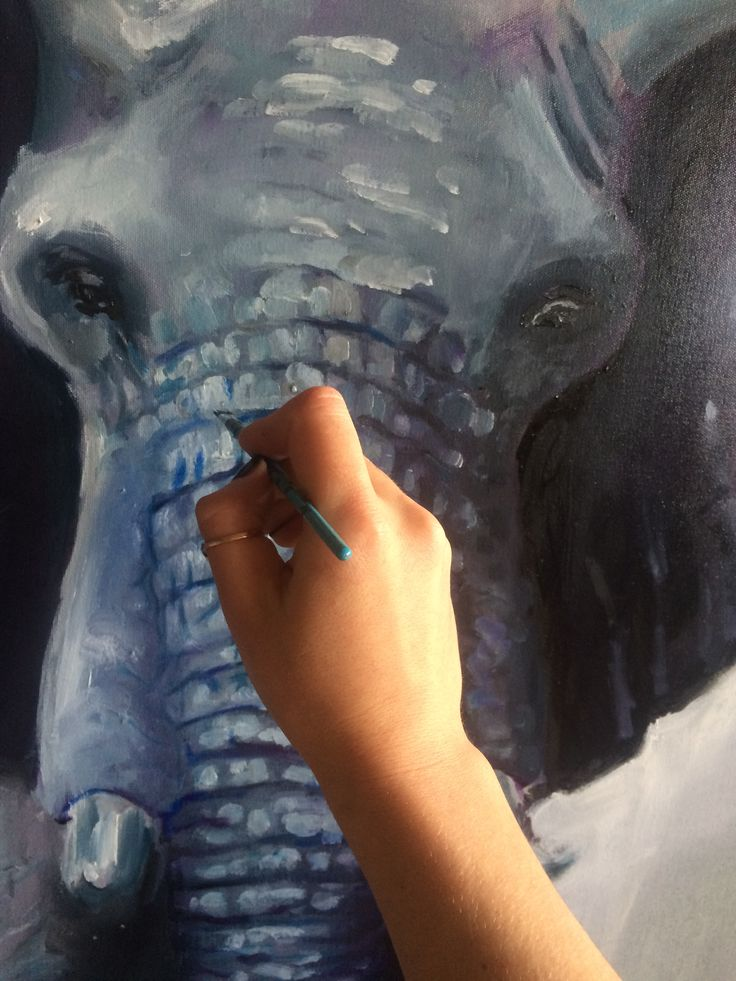 Elephant painting, watch the process