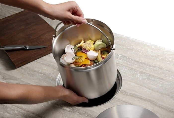 Blanco Stainless Steel Bucket Compost Pail/Remodelista