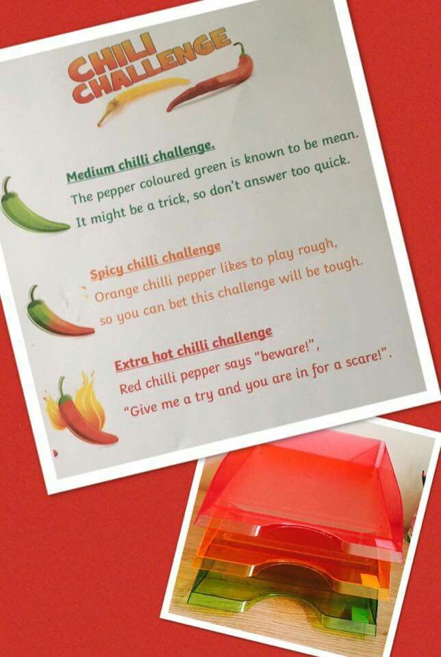 Chili Challenge Chili Challenge Math Challenge Year 3