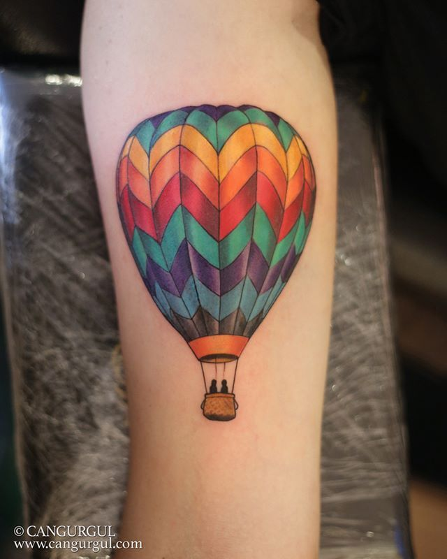 mostly healed #airballoon  #tattoo done with #cheyennepen #ezneedles…