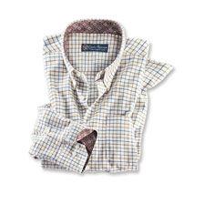Robertson-Tattersall-Hemd in Ecru      bestellen - THE BRITISH SHOP - englische Herrenkleidung online günstig kaufen