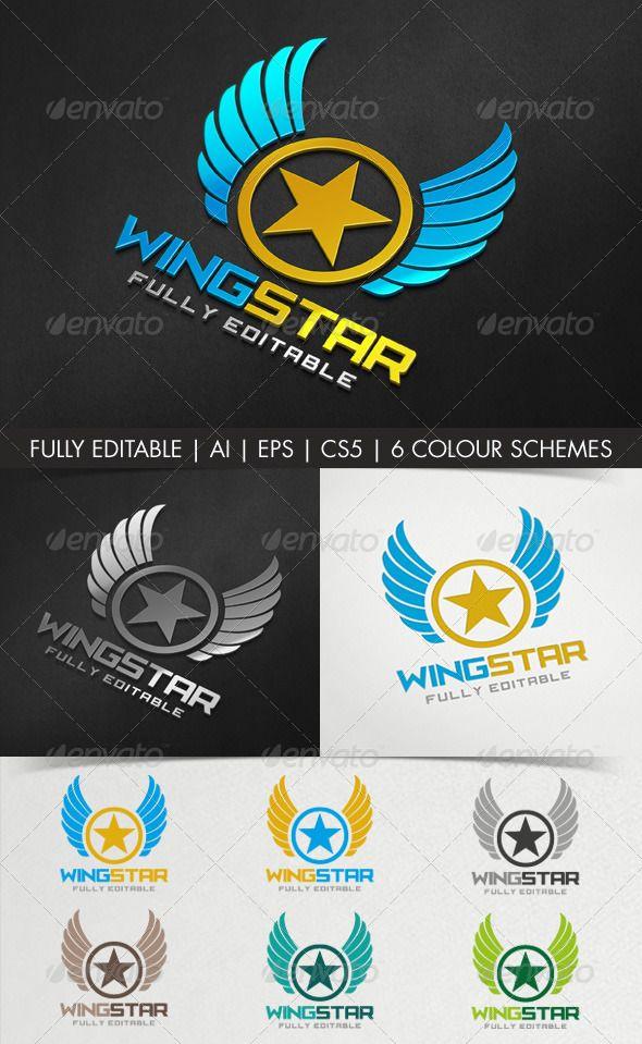 Wingstar Logo Emblem