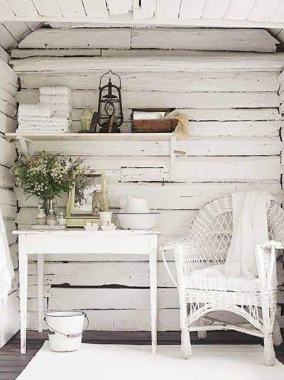 Rustic, white, garden style