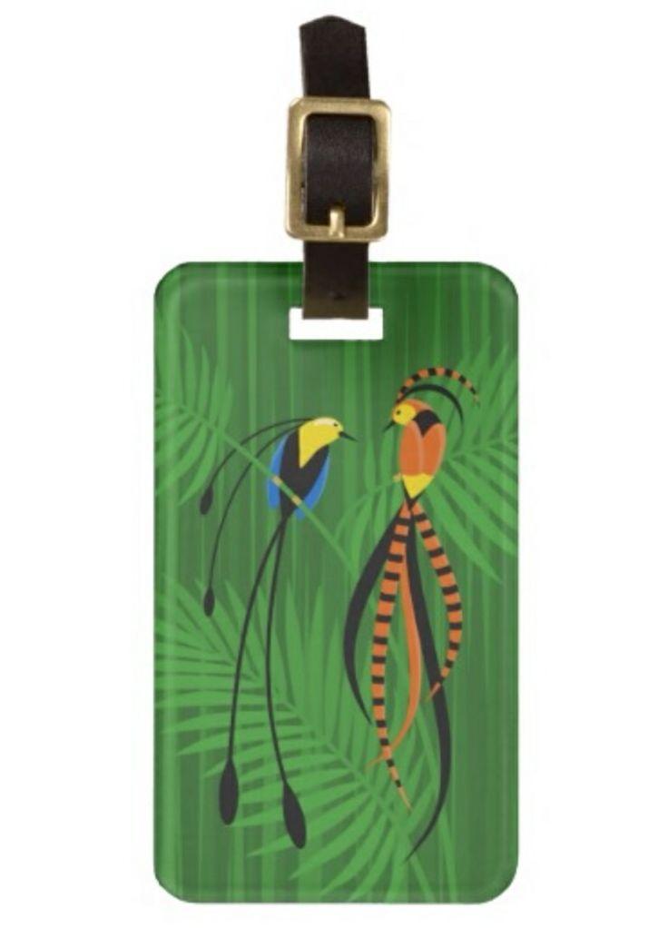 Personalized Birds of Paradise Travel Luggage Tag #cute #bird #birds #birdsofparadise