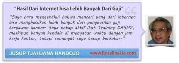 Testimoni DASH2 - RosalinaLie.com - Jusup Tjahjana Handojo